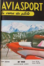 AVIATION REVUE AVIASPORT ANNEE 1966 COMPLETE DES 12 NUMEROS de 140 à 151