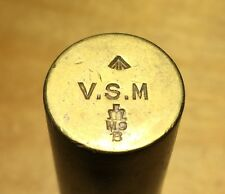 """Lee-Enfield 0,303"""" SMLE brass rifle oiler, VSM marked, Vickers, Maxim made"""
