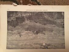 u1-3 ephemera 1890 religious book plate jerusalem by moonlight