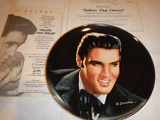 "Delphi Elvis Portriats of the King plates - ""Follow that Dream"" plate #8 - nib"