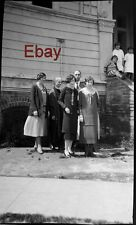 a Big Amateur Negative to Make Photo From- 4 Women- 1 Man - 1930s