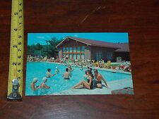 POSTCARD VINTAGE OLD RARE HIDDEN VALLEY FINEST DUDE RANCH LAKE LUZERNE NEW YORK