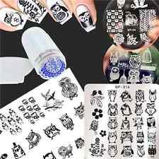 6Pcs/kit Nail Art manucure plaque de Stamping à motif d'hibou/kit de tampon
