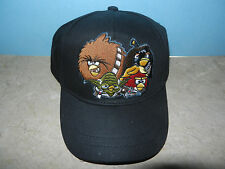 Angry Birds Star Wars Baseball Hat Cap Black One Size Adjustable Velcro NEW NWT