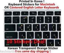 Korean Orange Transparent Keyboard Sticker for Mac / Centered Windows 10 deal