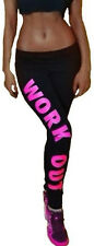 WorkOut Damen Leggings Sporthose Fitness Zumba Yoga-XS-S-M 34-36-38 Schwarz-Pink