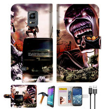 Iron Maiden Wallet TPU Case Cover For Samsung Note Edge-- A014