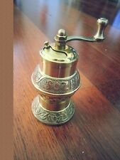 Traditional SOZEN Turkish Handmade Pepper Grinder Mill ISTANBUL Brass 11cm 4.1""