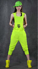 New jazz Hip Hop Dance Costume wear loose harem sports one piece Pants jumpsuit