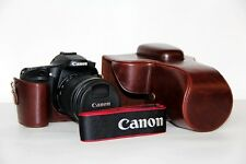 Leather+pu Camera Case Bag for Canon EOS-80D  80D 70D 60D Coffee