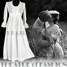VINTAGE LAURA ASHLEY DRESS 70s WEDDING CROCHET 6 8 10 LACE 60s BOHO VICTORIAN