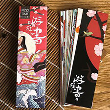 A Pack of Japanese Style Paper Bookmark 30 Pieces Different Design Great Gift