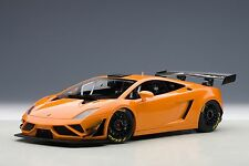 Lamborghini Gallardo GT3 FL2 2013 Metallic Orange 2 Door Open 1:18 AUTOart 81357