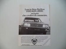 advertising Pubblicità 1978 LANCIA BETA 1300 1600 2000