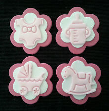 12x BABY / BABY SHOWER EDIBLE CUPCAKE TOPPERS / DECORATIONS