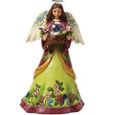 Jim Shore Heartwood Creek Angel With Bird In Glass Dome Figurine BNIB 4047055