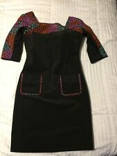Zac Posen Z-spoke Charcoal Dress Size 4