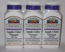 21st Century Apple Cider Vinegar 300mg Tablets 250ct Bottle -3 Pack