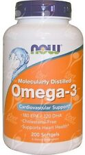 Now Foods, Omega-3 Fish Oil x200 Softgels - MOLECULARLY DISTILLED FOR PURITY