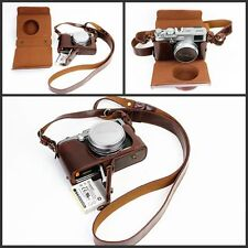 Leather Camera Bag Cover Case For Fujifilm x100 x100s x100m x100t Bottom Opening