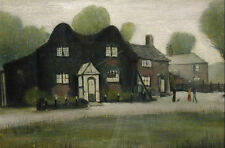 Framed LS Lowry Print - An Old Farm (Picture Painting English Artist Artwork)