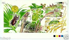 MALAYSIA (1998) - Insects of  Malaysia ('98 Stamp Week Overprint)- Imperforate