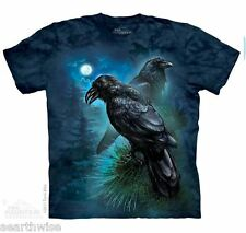 THE MOUNTAIN - RAVENS T-SHIRT - ADULT LARGE -  Wicca Pagan Witch Goth
