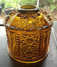 Bars & Stars Indiana Glass Fairy Lamp Shade Amber / Gold