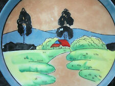 "Hand Painte in Japan Collectors Plate Fine China Japanese Countryside 6"" Decor3"