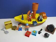 DUPLO lego JAKE AND THE NEVERLAND PIRATES SHIP hook treasure cannon parrot 340