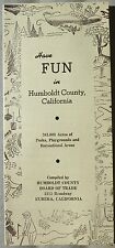 1960's Humbolt County California vintage CA directory parks recreation areas b