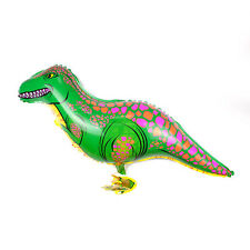 Walking Green Dinosaur Balloons Animal Helium Birthday Kids Party Toy BJ