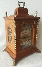 Warmink Mantel Shelf Clock Dutch 70s Walnut Moon Phase 8 Day Strikes 2 Bells Big