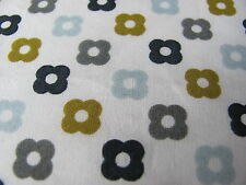 Orla Kiely MULTI FLOWER SPOT ROCKPOOL 50cm square FQ fabric new