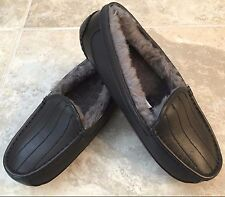 UGG Star Wars Darth Vader Ascot Ltd Ed Black Leather Shearling Slipper Kids 2US