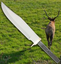Large Custom Knife Making Bowie Blade Brass Blank Stainless Steel Knives Hunting