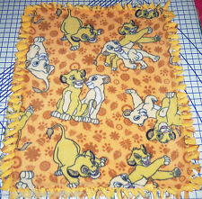 "Disney The Lion King Simba Nala Fleece Baby Blanket Pet Lap 30""x24"""
