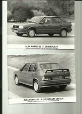 "Alfa Romeo 33 1.5 TI VELOCE & 1.7 Hoja De Trébol VELOCE Press Photo ""folleto"" de 3"