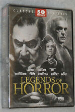 Legends di HORROR - 50 Classico Film Hitchcock Bela Lugosi Karloff DVD Cofanetto