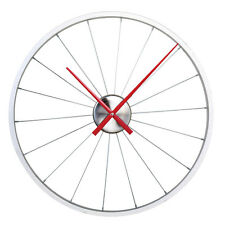 Aluminum Bicycle Rim Wall Clock Red Hands - Tire Spokes Wheel Cyclist Gift