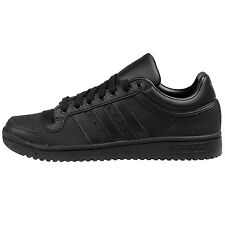 Adidas Top Ten Lo Mens D69291 Core Black Leather Athletic Shoes Sneakers Size 12