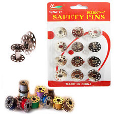 12 x Bobbin Industrial Sewing Machine Tailor Spools Fit Brother Janome Metal PK