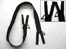 "Zip, Zipper, Non Separating,Two Sliders, Nylon,YKK,Black,35.5""/ 90cm,"