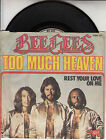 "BEE GEES Too Much Heaven PICTURE SLEEVE 7"" 45 rpm record + juke box title strip"