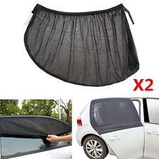 2x Sun Visor Shade Mesh Cover Shield Sunshade UV Protector For Side Rear Window