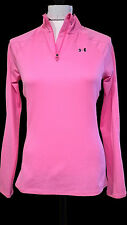 UNDER ARMOUR HEAT GEAR PINK SEMI FITTED LONG SLEEVE TOP size S/M