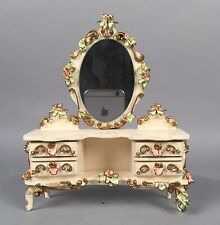 Vintage Spielwaren Dollhouse Furniture - Vanity w/ Mirror - Puppen Mobel Germany