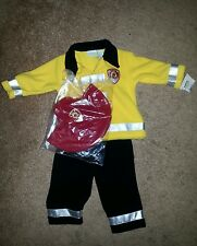 Infant baby boy size 6-9months fireman fleece outfit costume cute NEW