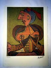 Picasso Litografia 38.5 x 28.5 cm Firma Fondazione Timbro Spadem 250 esemplari