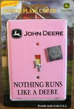 Brand New! John Deere Single Light Switch Cover Plate Pink